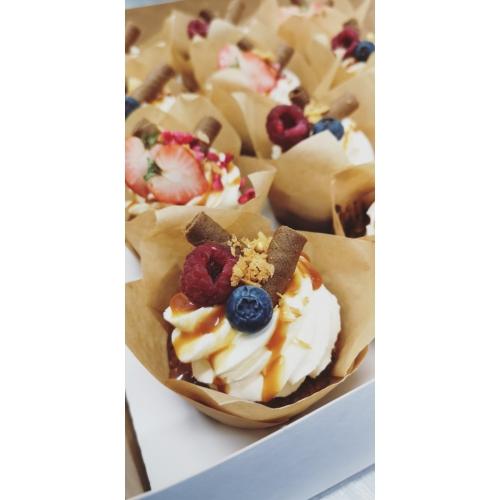 Muffin soola karamelliga ja mascarpone/vahukoore kreemiga  (1tk/80gr)