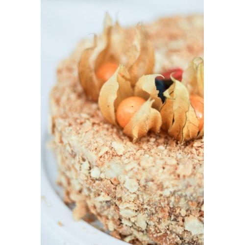 Napoleoni tort keedukreemiga ja pohlamoosiga (1 kg)