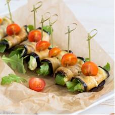 Baklazaani rullid juustu ja kreeka pähklitega